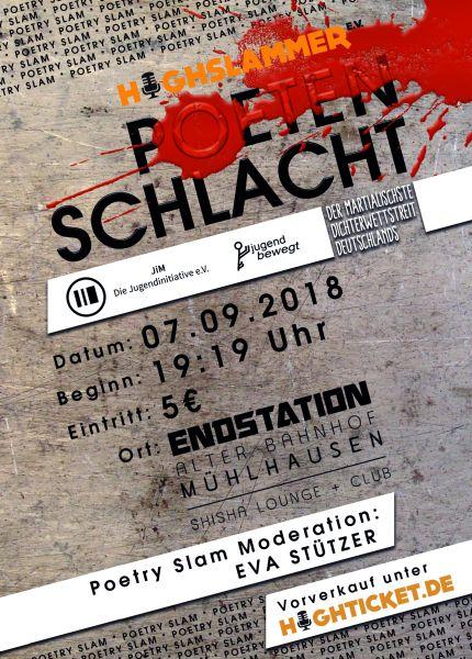 07.09.2018 - Mühlhausen Poetry Slam Poetenschlacht